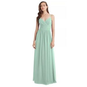 Bill Levkoff Mint Green Bridesmaid Maxi Dress 1113